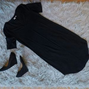 GAP V Neck Midi Elegant Black Dress S